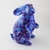 O OEM extravagante do projeto floresce o banco de moeda cerâmico do coelho