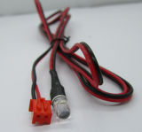 Assemblage chu-2 van de kabel aan Tweekleurige LEIDENE 2 Rood en Zwarte Spelden