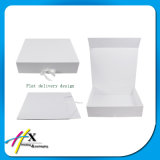 Folding Paper Gift Box for Clothes with Ribbon Closure