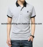 رجل حارّ بالجملة قطر عالة يطرق وطباعة نمط لعبة البولو [ت] قميص