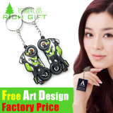 Karikatur Cheap 3D Custom Shaped Soft PVC Keychain mit Logo