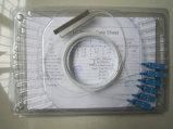 1X4 divisor del PLC Siglemode, divisor óptico del PLC de fibra con la coleta del conector Sc/Upc del Sc