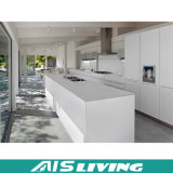 Fabricante branco da mobília do gabinete de cozinha da laca (AIS-K001)