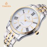 方法人の女性は贅沢で完全な鋼鉄水晶腕時計72236を防水する