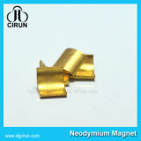 Изготовленный на заказ магниты неодимия формы дуги покрытия золота