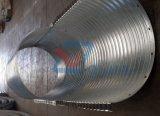 둥근 회의 물결 모양 강철 암거 관