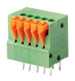 押しなさいボタンScrewless/PCBのばねの端子ブロック(WJ142V-5.0/5.08)を