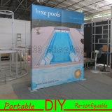 Da feira profissional da exibição indicador de parede modular portátil feito sob encomenda para trás