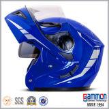Kühles blaues Motorrad-Kippen herauf Sturzhelm (LP504)