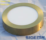Sigemr Surfaced Round Golden 12W 18W LED Panel