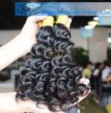 12-30 het Braziliaanse Krullende Menselijke Haar van de duim