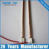 Calentamiento rápido oro de la pared del tubo calentador de infrarrojos