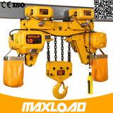 Élévateur à chaînes électrique de 7.5 tonnes avec le type d'Inférieur-Espace libre (HHBB7.5-03SL)
