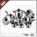 Nuevo Item Stainless Steel 16PCS Cookware Set