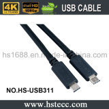 5 mètres de type d'USB 3.1 câble de C pour MacBook et ordinateur portatif