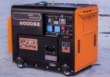 5kw de stille Diesel Generator met 4 strijkt Elektrisch Begin