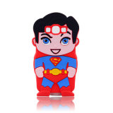 Случай сотового телефона силикона руководителя группы экрана человека утюга супермена (XSY- 001)