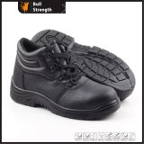 De zwarte Schoenen Sn5113 van de Bedrijfsveiligheid van de Goedkeuring van Ce van het Leer