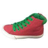 Neues Modell-rote/graue Kind-fantastische Segeltuch-Schuhe für Jungen/Mädchen