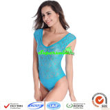 Sexy Lace Swimwears der Dame/Spitze-reizvolle Badebekleidung einteilig