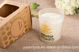 Lavendel & de Eucalyptus Gebemerkte Kaars van de Gift van het Glas