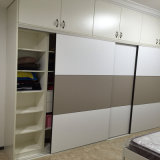 Phywood personalizzato Wardrobes con Leather Sliding Door
