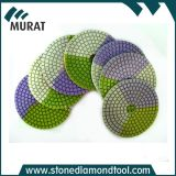 Пусковые площадки диаманта гибкие влажные полируя для мрамора и гранита