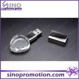 Movimentação gama alta do flash do USB do cristal do coração 8GB mini