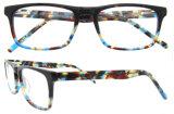Het vrije Frame van de Oogglazen van Eyewear van de Acetaat van de Rechthoek van Gernan van het Schouwspel van de Steekproef Blauwe