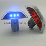 6PCS Bright LED Aluminum Solar Road Stud mit Nails