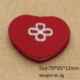 Le miroir de contrat de forme de coeur en cuir le meilleur marché d'approvisionnement