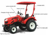 2015 горячий сад Tractor Driven Sale 40HP 4WD 4 Cylinders Engine Fitted с Rotary Tiller/Plough/Front Loader