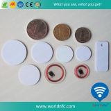 Tag simbólico impermeável plástico da moeda de RFID