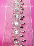 Ворот вышитый бисером уравновешивания Accessrory одеяния повелительниц Handmade вышитый бисером