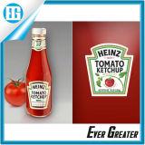 Preiswerter selbstklebender Saft-Flaschen-Aufkleber-Großhandelskennsatz