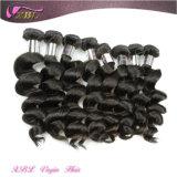 Chemikalien-freies natürliches schwarzes unverarbeitetes indisches Jungfrau Remy Haar