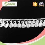 Lacet perlé d'habillement de produit chimique de tissu de lacet de lacets décoratifs