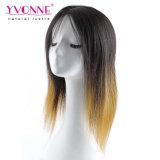 Perruque brésilienne de cheveux droits de perruque de lacet de couleur d'Ombre pleine