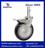 5 Inch-Schwenker industrielles PU-Gestell-Fußrollen-Rad