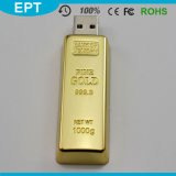 Più nuova memoria Flash Pendrive del USB 2.0 del USB Flash Drive Pen Drive 8GB 16GB Gold Bar di Design Golden