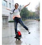 Колесо самоката одного тачки скейтборда балансируя