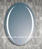 Espejo oval del cuarto de baño con la luz del LED/detrás de la luz del espejo del cuarto de baño