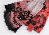 Sciarpa di seta viscosa delle donne del cotone stampata Paisley di modo (YKY1154)