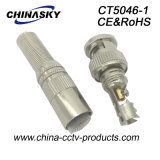 CCTV Male Solderless BNC Plug con Long Metal Boot (CT5046-1)