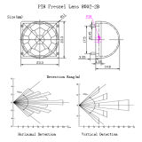 Diamètre foyer 10.5mm PIR Fresnel Lense de 23.3 millimètres pour la lumière