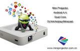 projetor video do diodo emissor de luz do DLP 1080P mini com WiFi Android