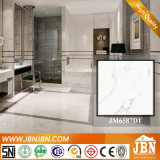 El mármol de Carrara imita el azulejo blanco estupendo de la cerámica del suelo (JM6587D1)