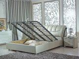 Кровать 9227 кожи рамки кроватей роскошного типа евро классицистического мягкая