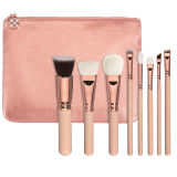 8piece Vegan 100% Rosa Gold Makeup Brush Set (ST0804)