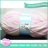 Chunky Arc-en-Dyed Tissage Main Tricot Polyester Fils Acryliques (T008)